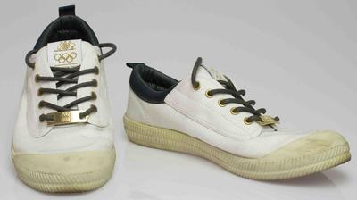 Shoes worn by Wendy Braybon during the London 2012 Opening Ceremony