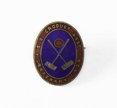 South Australian Croquet Association badge, 1936