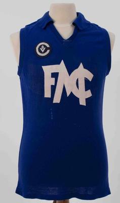 Minyip Football Club guernsey worn by Wayne Robbins, c.1990s