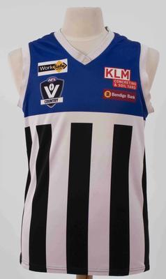 Minyip Murtoa Football Club guernsey worn by Damien Cameron, 2018