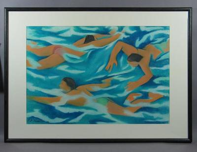 "Drawing, ""The Swimmers III"" by Pat Shannon"