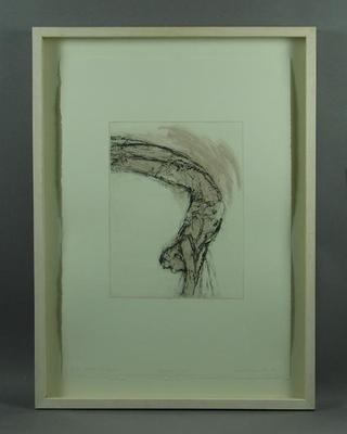 "Etching, ""Back Dive"" by Robert Hollingworth"
