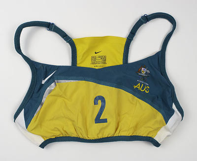 Australian team beach volleyball uniform worn by Kerri Pottharst at, Athens 2004 Olympic Games; Clothing or accessories; 2019.2.6