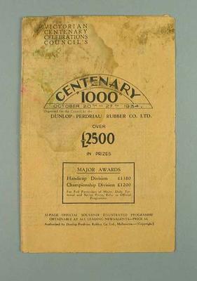 Pamphlet - 'Centenary 1000' Cycle Race -  20-27 October 1934