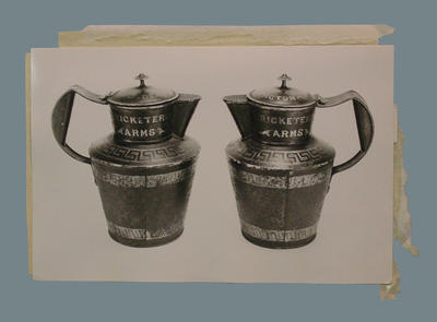 Photograph of two tankards, Cricketer's Arms
