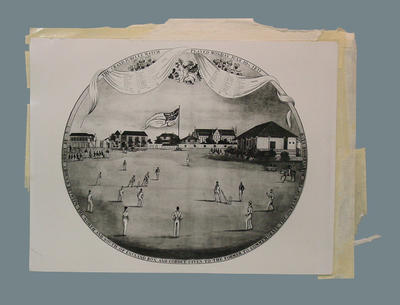 "Photograph of a print, ""The Grand Jubilee Match"""