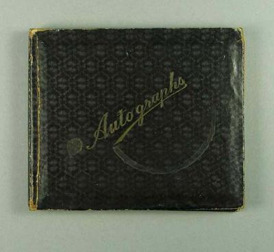 Autograph book, signatures of cricketers & footballers c1930s
