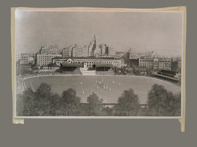 Photograph of painting, depicts Old Wanderers Ground