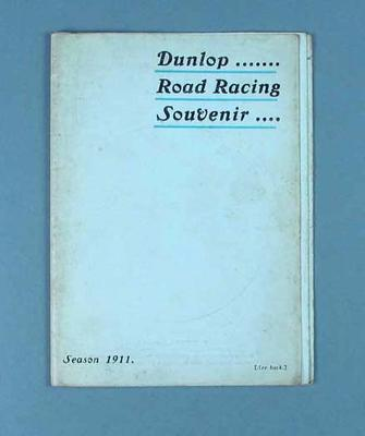 Leaflet - Dunlop Road Racing Souvenir Season 1911