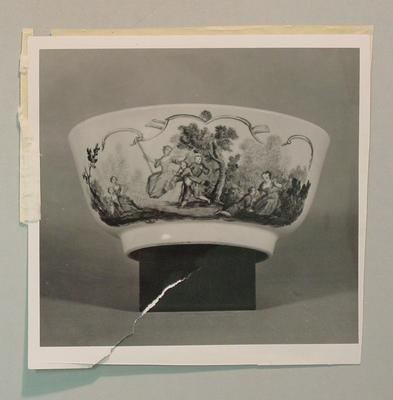 Photograph of bowl on display at Victoria & Albert Museum, London