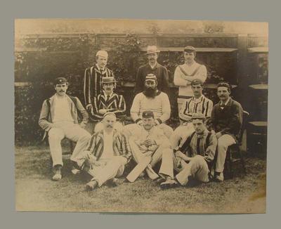 "Photograph, ""Gentlemen of England 1884"""