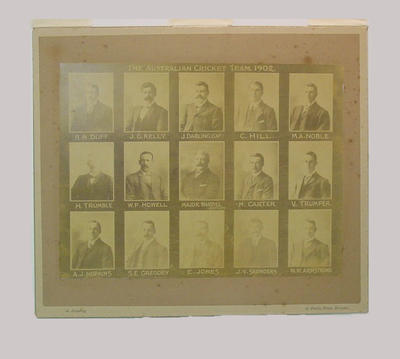 "Photographs, ""The Australian Cricket Team 1902"""