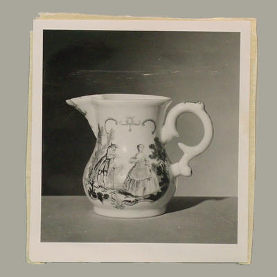 Photograph of jug on display at Victoria & Albert Museum, London