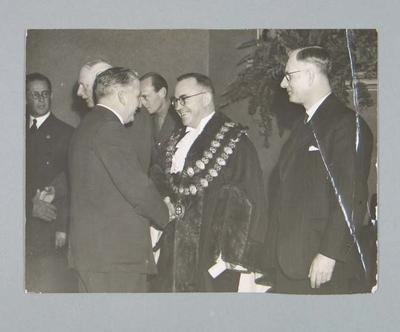 Photograph of Frank Beaurepaire in Lord Mayoral Regalia