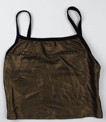 Metallic bronze World Tour beach volleyball uniform, worn by Kerri Pottharst circa 2001