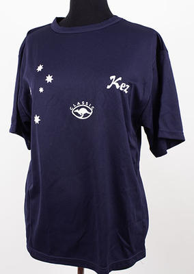 T-shirt created by a fan and subsequently worn Pottharst, circa 2001