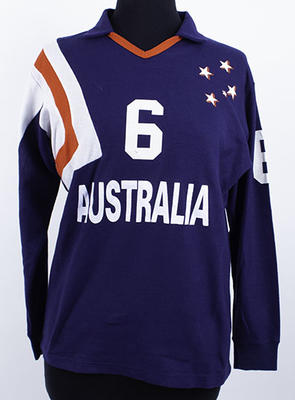 Australian team indoor volleyball top worn by Kerri Pottharst, circa 1992