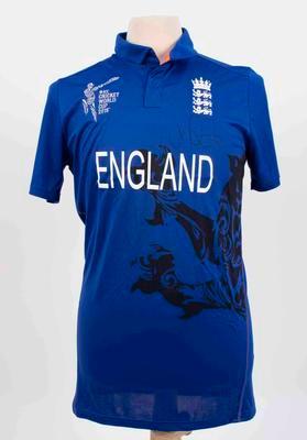 England team shirt, 2015 Cricket World Cup