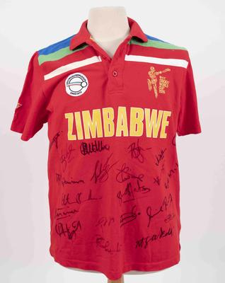 Zimbabwe team shirt, 2015 Cricket World Cup