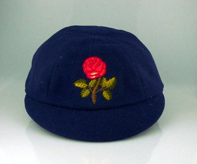 Lancashire County Cricket Club cap, worn by William Horrocks c1931; Clothing or accessories; M2697
