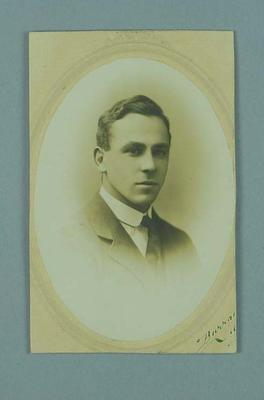 Studio portrait of Frank Beaurepaire