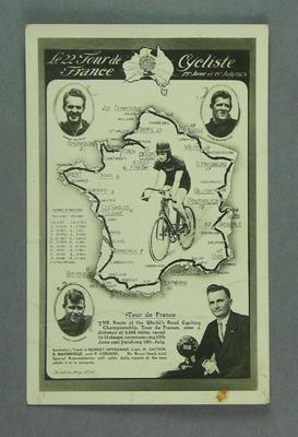 Postcard advertising Tour de France, 1928