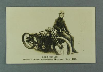 Postcard depicting Louis Gysler, 1928