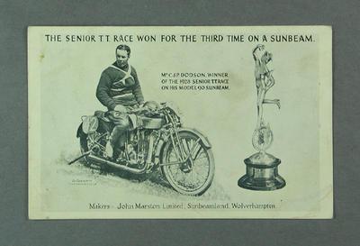 Postcard depicting CJP Dodson, 1928