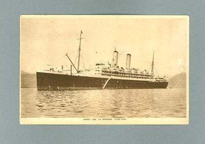 Postcard featuring image of SS Ormonde, c1934