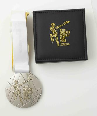 Unawarded runners-up medal, 2015 Cricket World Cup final