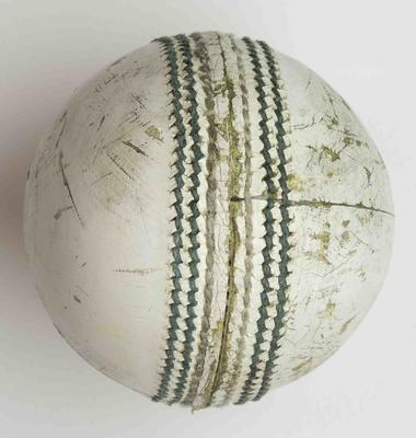 Cricket ball used during Sri Lanka v Scotland match, 2015 Cricket World Cup