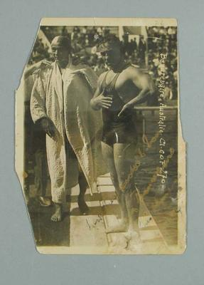 Photograph of Frank Beaurepaire and Katsuo Takaishi