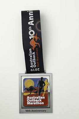 Unawarded medal for half marathon event, Australian Outback Marathon 2019
