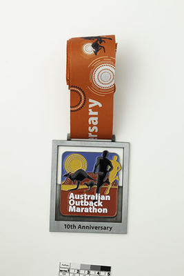 Unawarded medal for marathon event, Australian Outback Marathon 2019