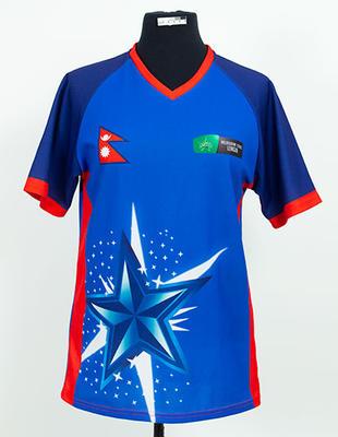 Nepal shirt worn by Anita Sapkota, 2018