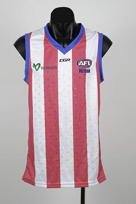 AFL Blind prototype jumper, used during the 2018 season; Clothing or accessories; N2019.56.2
