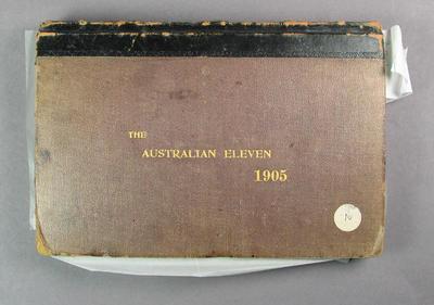 Scorebook, Australian XI tour to England in 1905