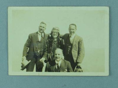 Photograph of Frank Beaurepaire and others at the Grand Canyon, USA