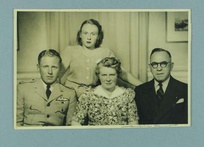 Photograph of Frank Beaurepaire and family, c1945