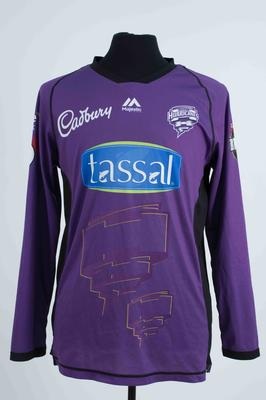 Hobart Hurricanes shirt worn by George Bailey, 2018/2019