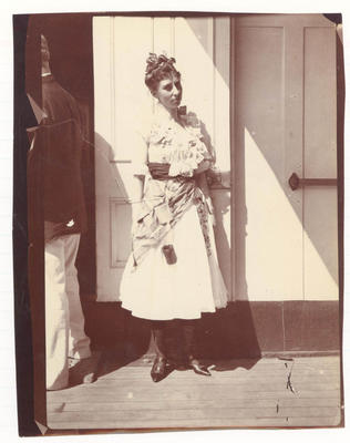 Couple on deck of  'Ormuz' -  Frank Laver Photograph Album collection