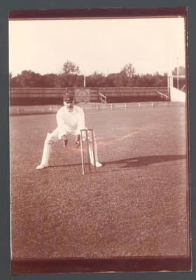 Unidentified cricketer - Frank Laver Photographic Album collection