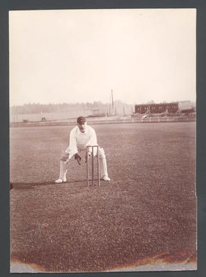 Cricketer H. Duff [?] - Frank Laver Photographic Album collection