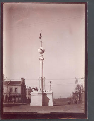 Victorian Chamber of Commerce monument - Frank Laver Photographic Album collection