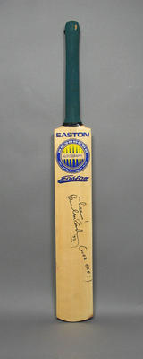 """Bat autographed and inscribed by Paul McCartney """"Cheers! Woz 'Ere! '93 """""""
