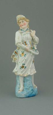 Ceramic figurine, girl with a racquet