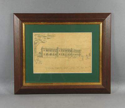 "Drawing, ""The Australian Convalescent Depot, Changi P.O.W. Camp 1942-3""; Artwork; Artwork; M7331"