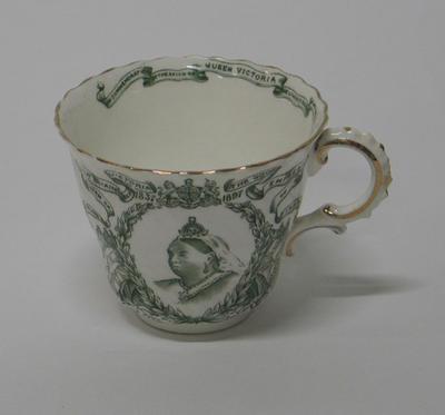 Cup, commemorates Queen Victoria Diamond Jubilee