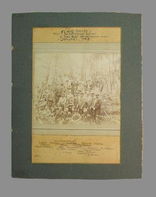 Photograph - Mr. J.M. Bruce's Picnic - Australian XI, Dandenong 1883'; Photography; M7713