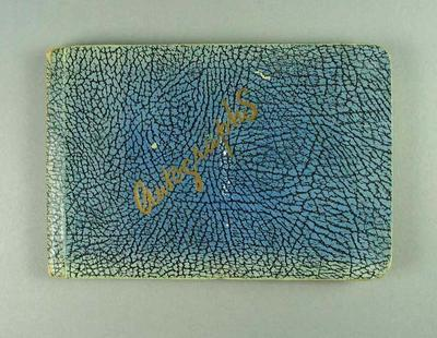 Autograph book, contains signatures of 1934-35 Victorian cricket team